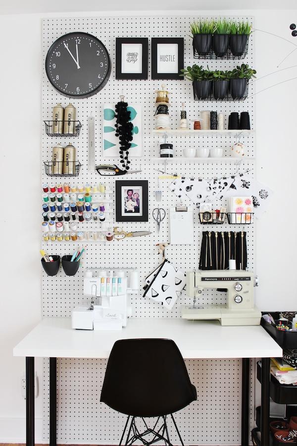 pegboard workspace