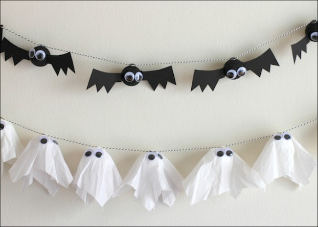 bat and ghost garland