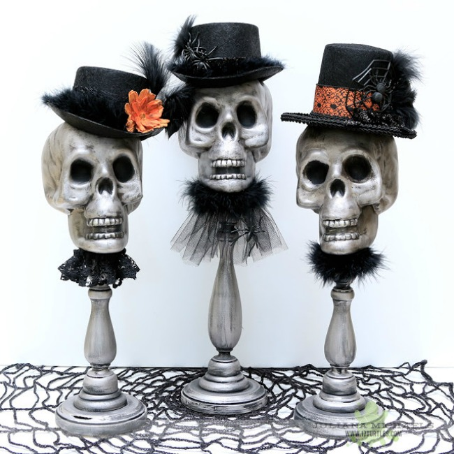 Dollar tree skull decor