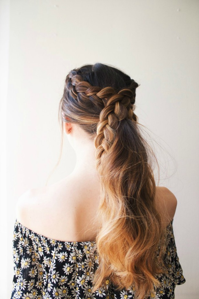 simple braided pony