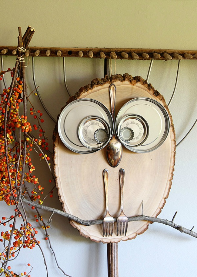 Wood Slice Owl Craft