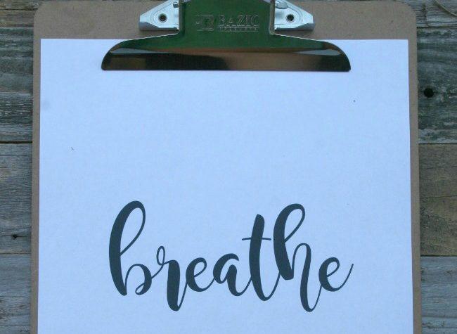 breathe printable