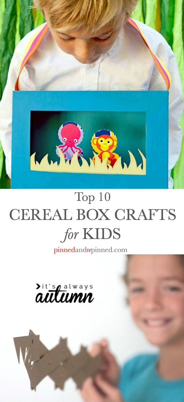 cereal box crafts kids