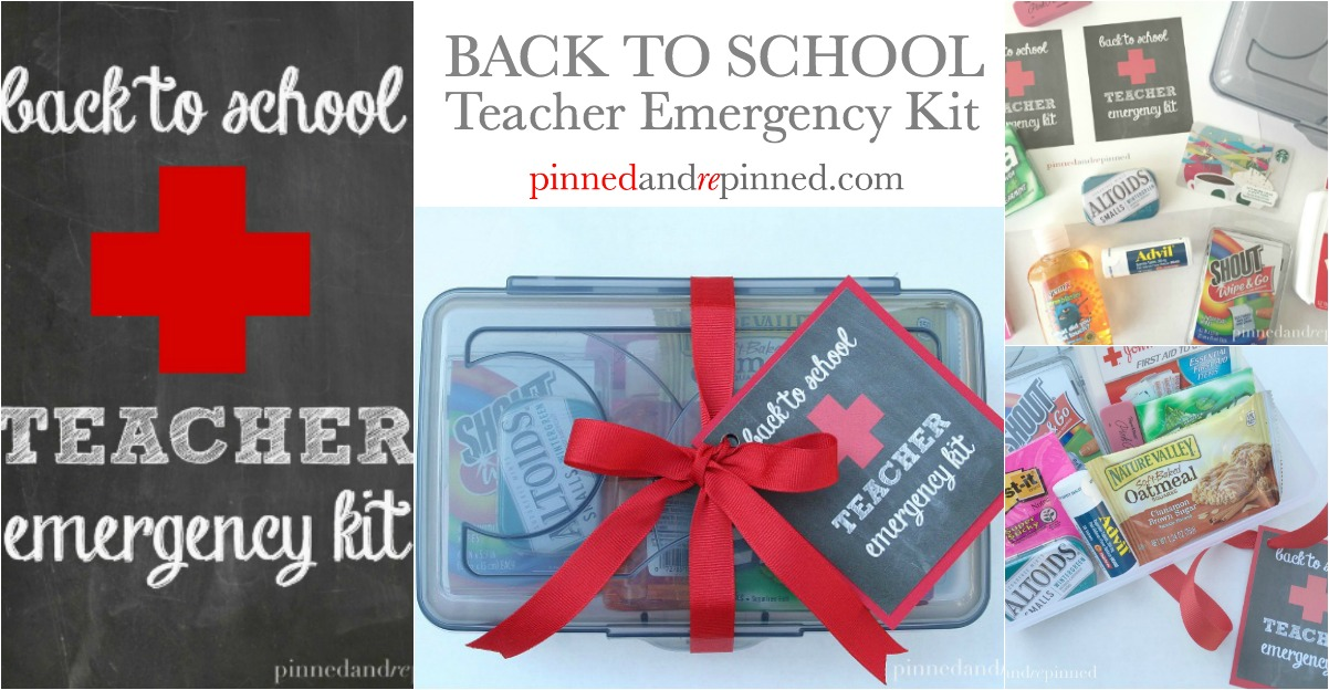 Back to School Teacher Emergency Kit - Pinned and Repinned
