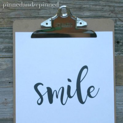 Free Printable SMILE Quote