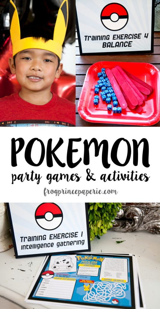 Pokemon party games