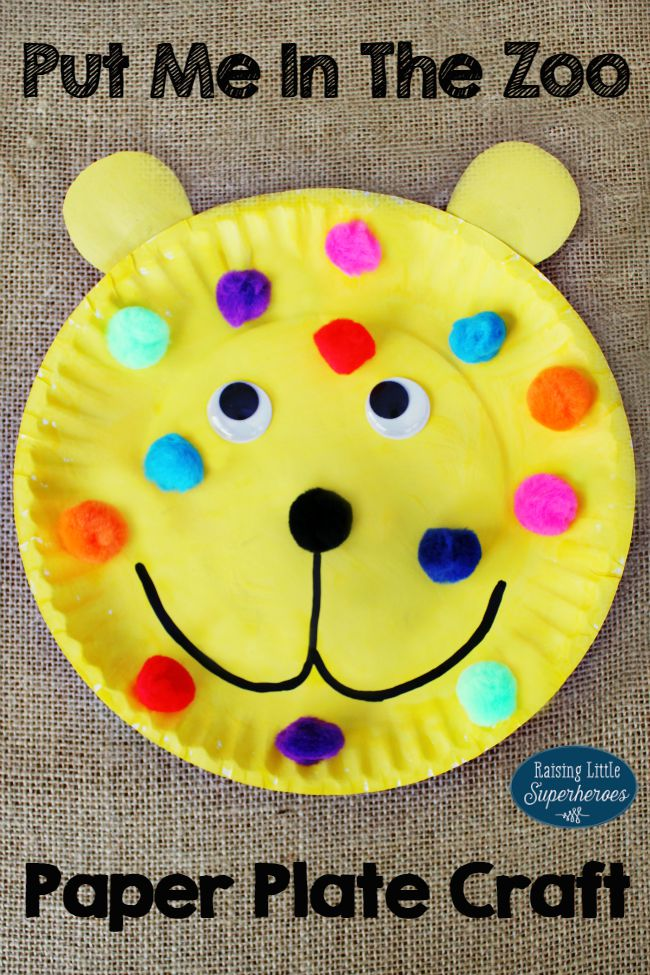 put me in the zoo paper plate craft