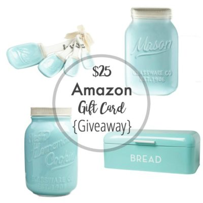 $25 Amazon Gift Card Giveaway! CLOSED