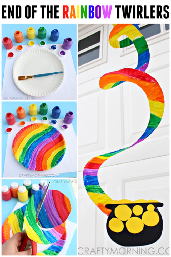 end of the rainbow paper twirler