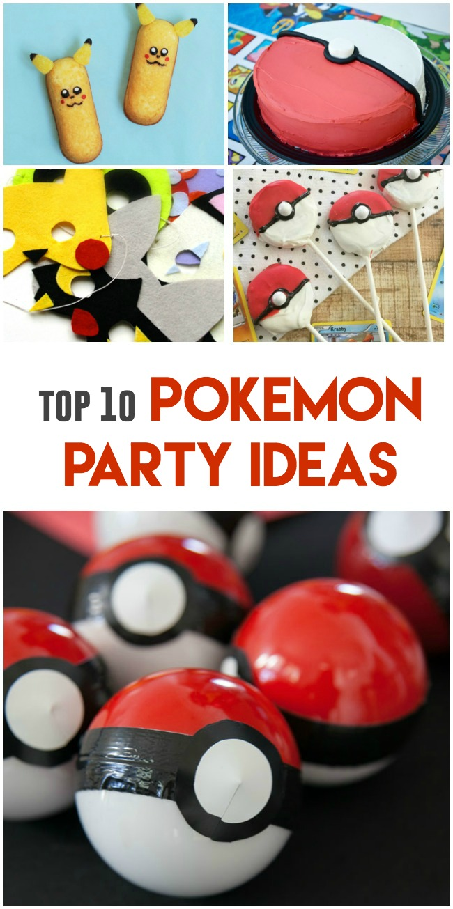 pokemon party ideas