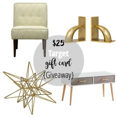 $25 Target Gift Card Giveaway! {perfect for holiday shopping} CLOSED