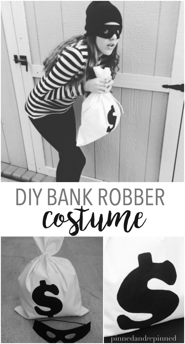 diy bank robber costume