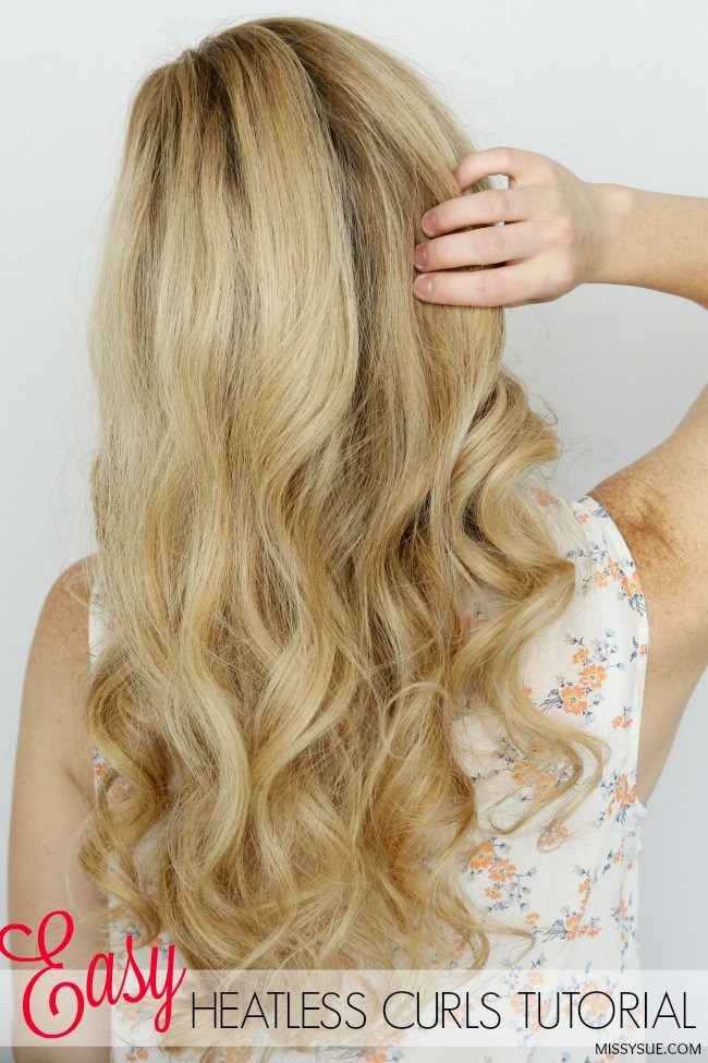 cocktail for heatless curls