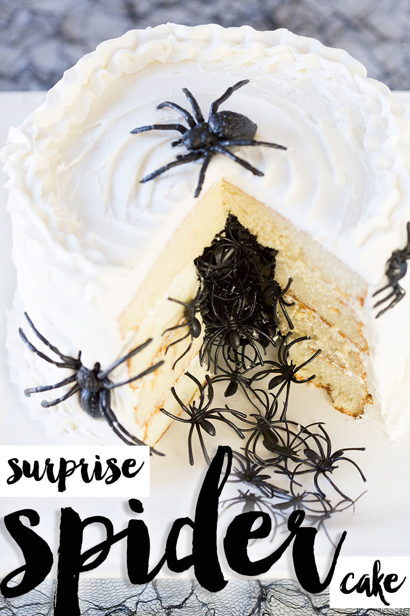 Halloween surprise spider cake