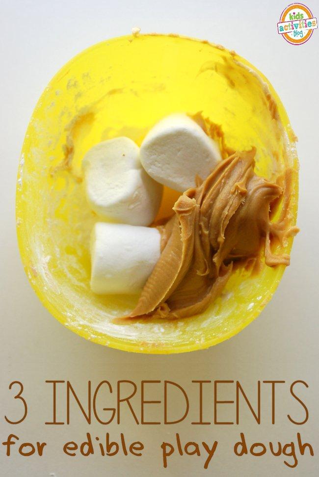 3 ingredient peanut butter play dough