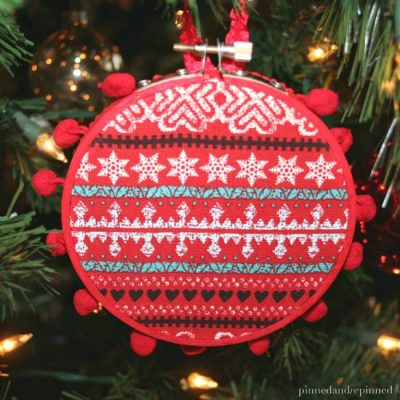 DIY Embroidery Hoop Ornament