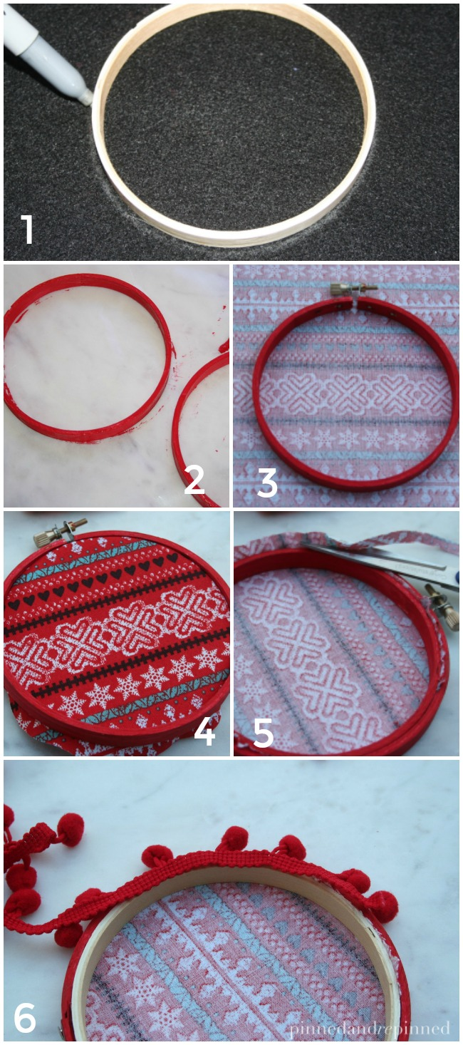 embroidery hoop ornament steps