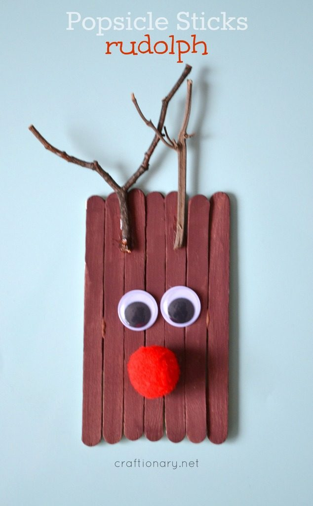 popsicle sticks rudolf