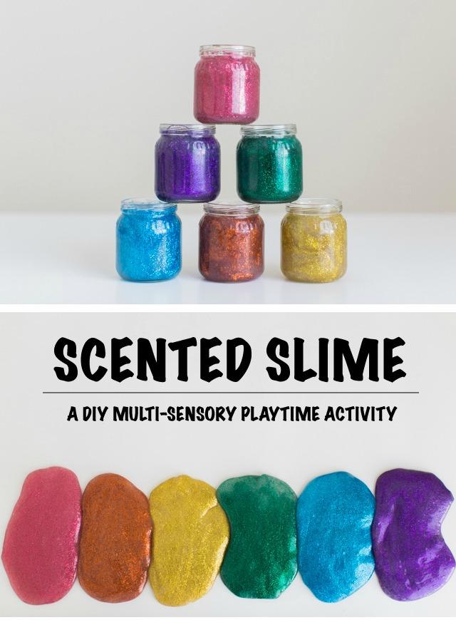 scented glitter slime