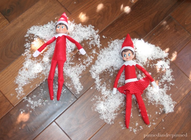 elf snow angels