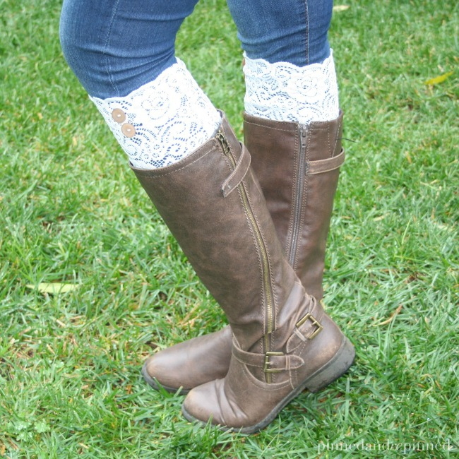 diy lace boot cuffs