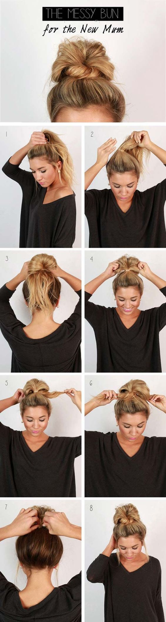 the messy bun