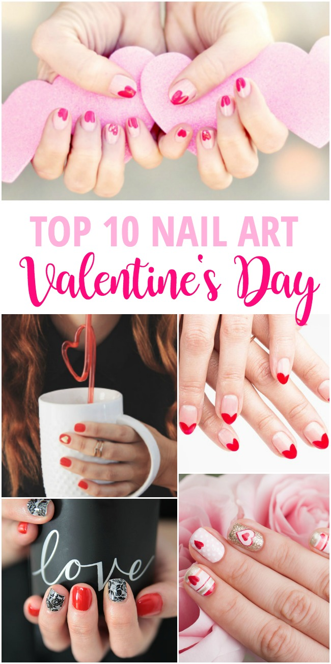 Top 10 Valentine's Day Nail Art