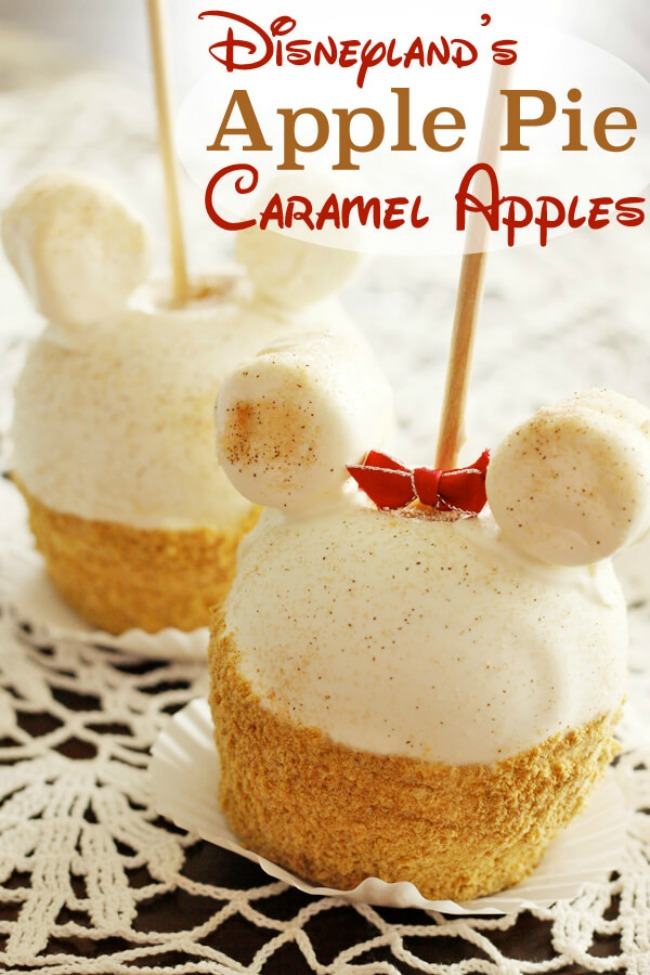 Disneyland Apple Pie Caramel Apple