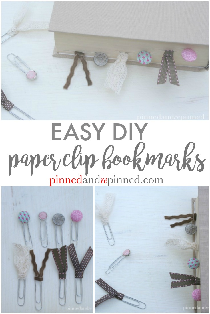 Easy DIY Paper Clip Bookmarks