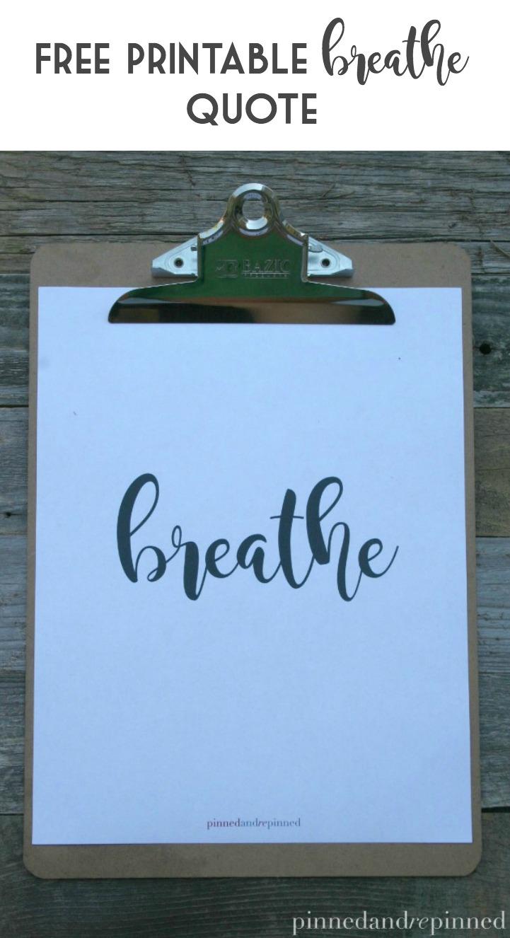 free pintable breathe