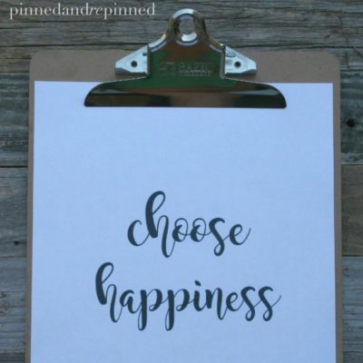 Free Printable CHOOSE HAPPINESS Quote