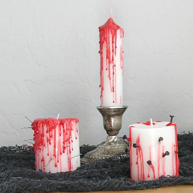 bleeding halloween candles