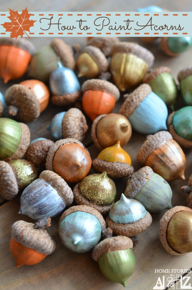 How to Paint Acorns