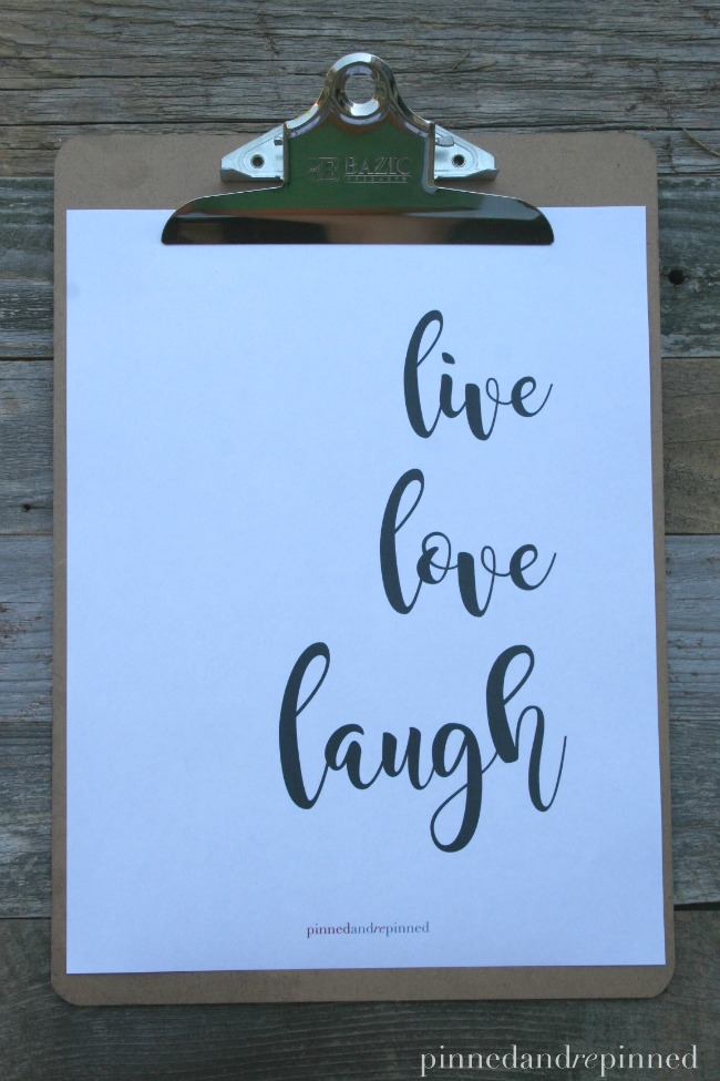 live love laugh printable