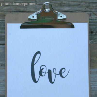 Free Printable LOVE Quote
