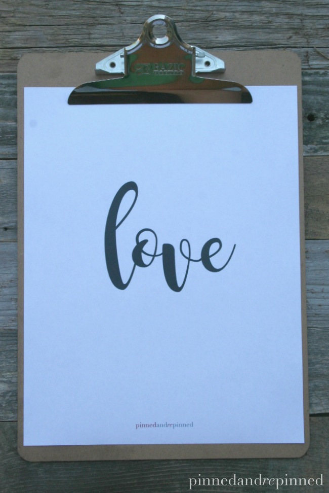 LOVE Printable Quote