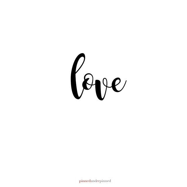 LOVE Printable Quote SQUARE