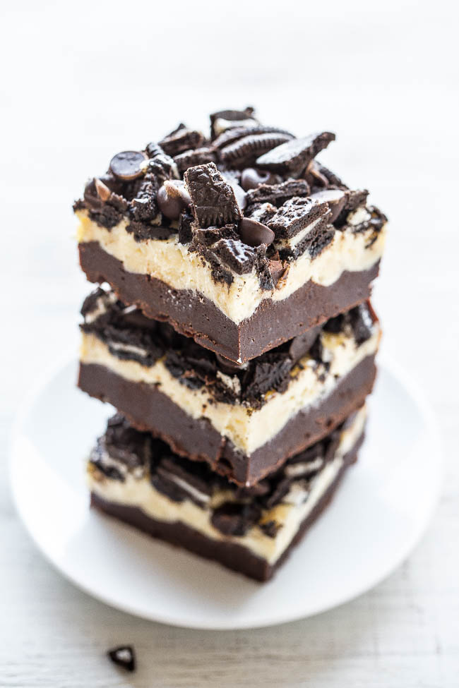 Oreo cream cheese brownies