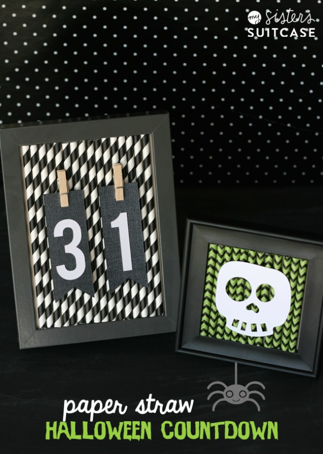 paper straw halloween countdown