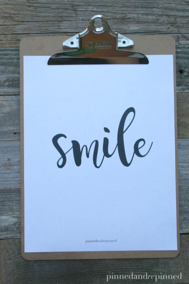 SMILE Printable Quote