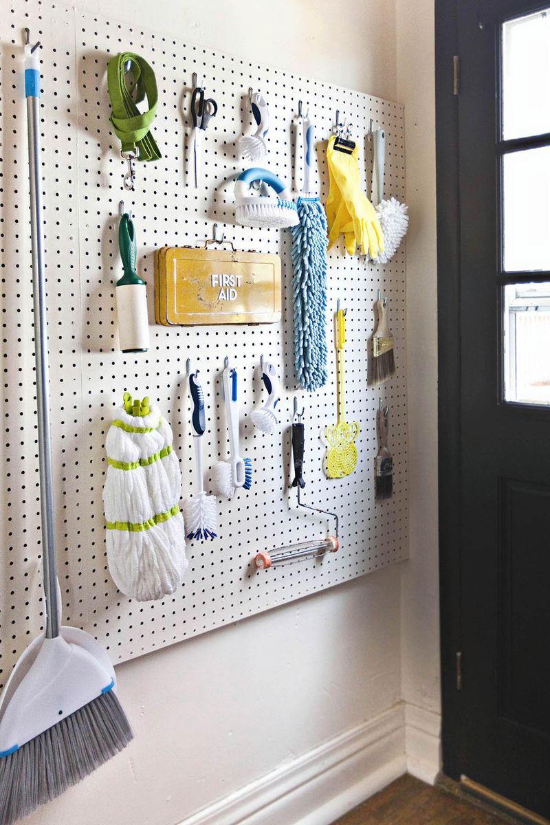 pegboard laundry room