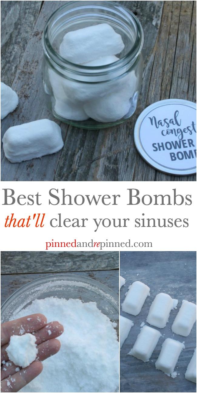 Nasal congestion shower bombs