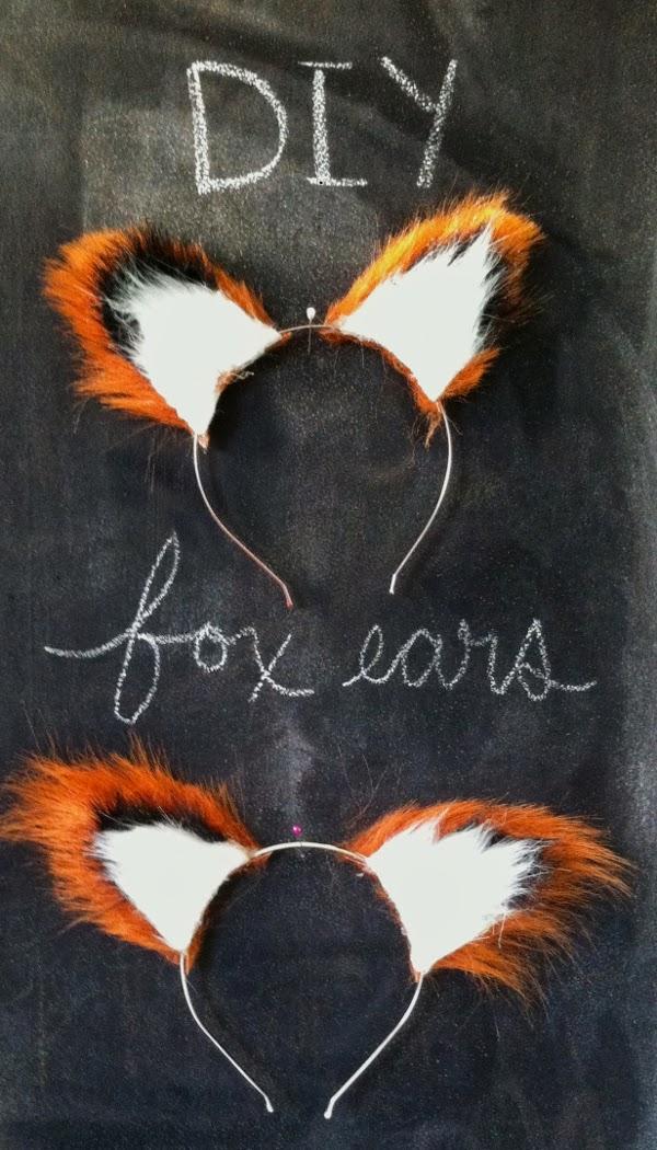 diy no sew fox ears