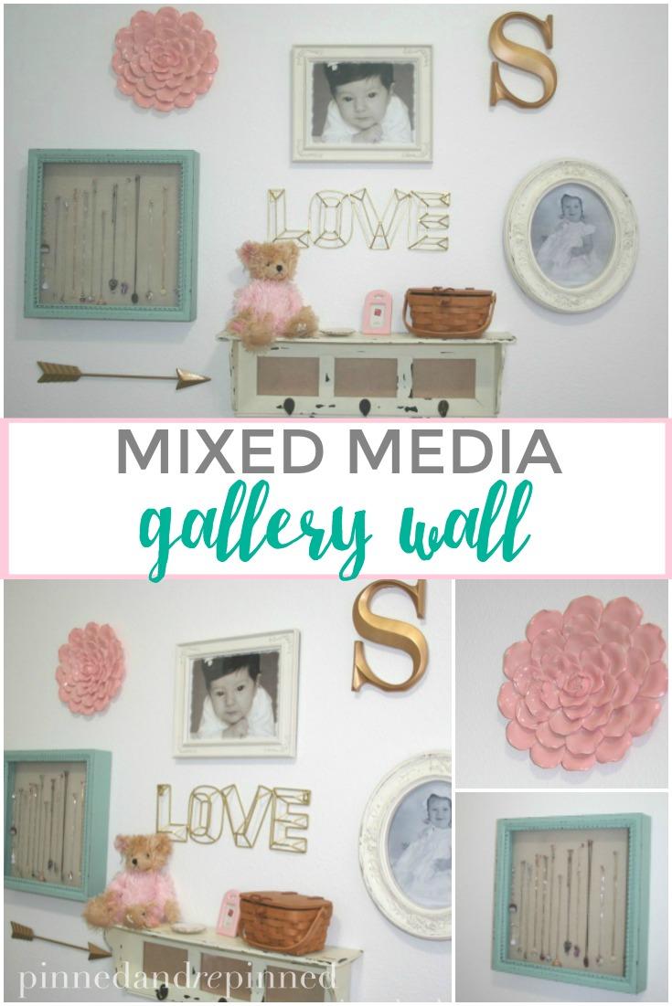 mixed media gallery wall