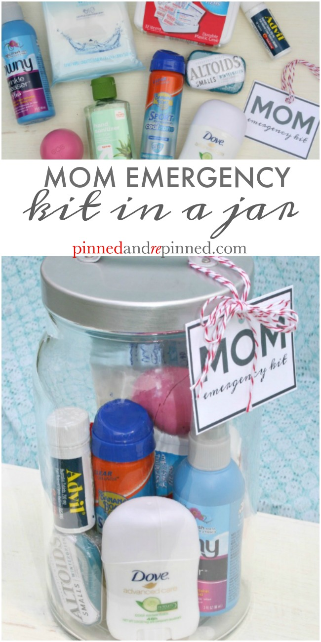 mom emergency kit in a jar
