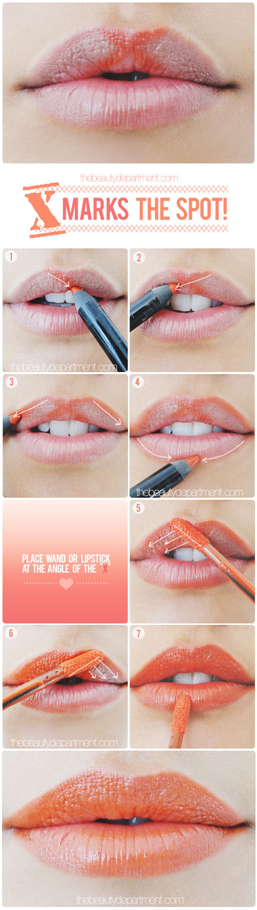 cupid bow lip trick