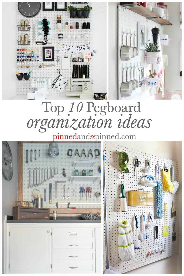top 10 pegboard organization ideas