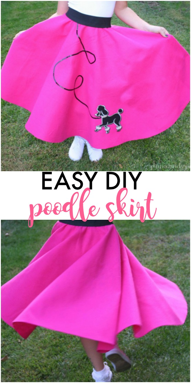 Easy Diy Poodle Skirt Pinned And Repinned