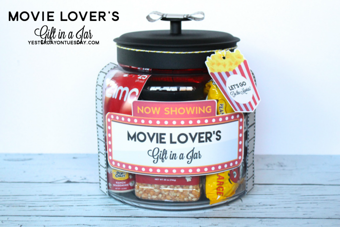 movie lover gift in a jar