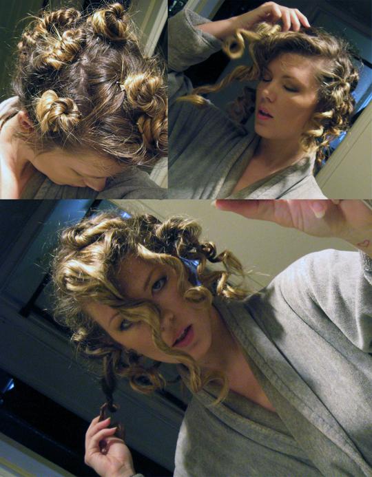 big curls little buns